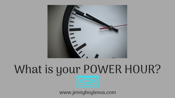 What is Your POWER HOUR?